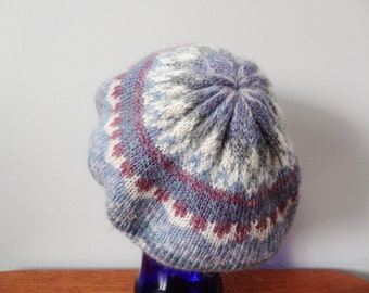 Purple Knit Slouch Hat