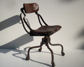 Vintage Industrial Chair / Fritz Cross / Remington Rand Sit Wel / Seriously Distressed and Decrepit / Machine Age Chair