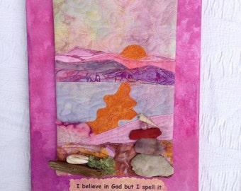 frank lloyd wright quote : fabric art