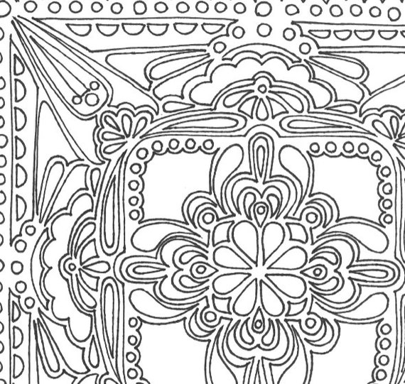 square mandala coloring pages - photo#26