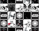 Star Wars The Force Awakens Grid Black #106-3 Quilt Fabric by the 1/2 yard