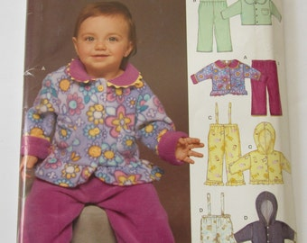 Easy to Sew Babies Fleece Jacket and Pants Sizes NB S M L UNCUT New Look Pattern 6444
