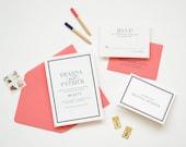 Wedding Invitation Sample - The Deanna Suite