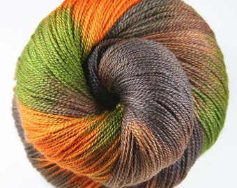 DARK CAMO Superfine Merino/Silk Lace Weight Yarn