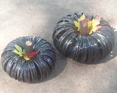 Canning Jar Band Pumpkins- Black