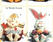 Easter Rabbit Basket Pattern,  Holiday Treats, Valentine's Day, Halloween, Christmas, Thanksgiving, Baby Shower, Gift- Simplicity 7039 UNCUT