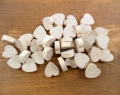 """100 Wood Hearts 3/4"""" H x 3/4"""" W x 1/4"""" Thick Unfinished Wood Heart Cutouts Cut Out"""