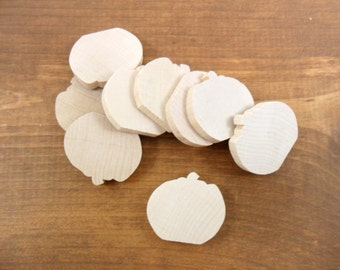 "24 Pumpkins 1 3/8"" H x 1 1/2"" W x 1/4"" Unfinished Wood Pumpkin Cutout Shapes"