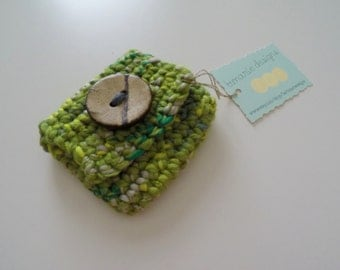 Crochet Coin Purse with Wood Button