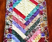 Fantastic Fall Leaves Quilted Braid Table Runner by Sweet Tooth Quilts
