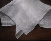 Vintage White  Ladies Handkerchief  Hanky