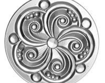 Stained Glass Jewels - 35mm Swirl - Crystal Clear Victorian Jewel