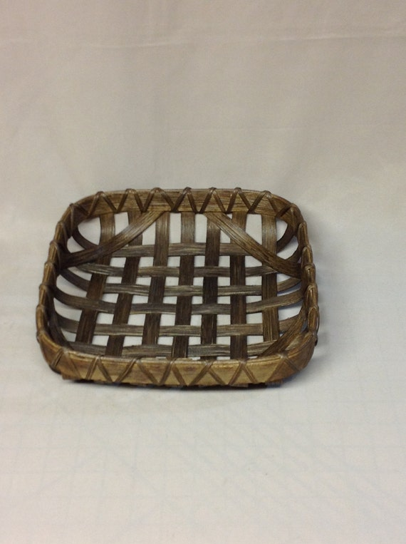How To Hand Weave A Basket : Hand woven tobacco basket smaller replica