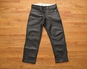 mens vintage leather motorcycle pants
