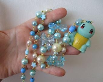 Pokémon Necklace - SQUIRTLE Figure Necklace  - Fairy Kei