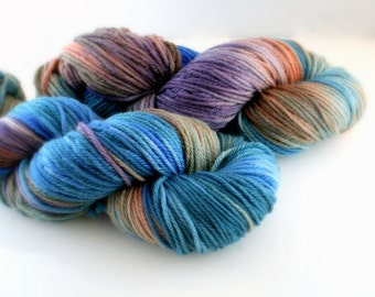 Hand dyed Yarn Superwash Merino Clover Worsted Roger That Swoon Fibers