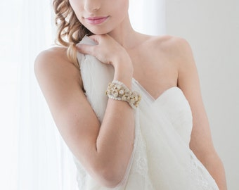 Wedding Cuff, Bridal Bracelelt, Bridal Cuff, Wedding Jewelry, Cuff Bracelet, BridalAccessories