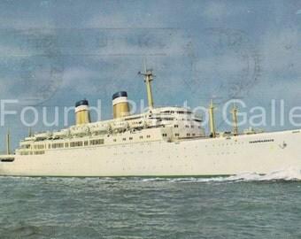 Vintage Postcard, U.S.S. Independence Cruise Ship, Color Postcard, Vacation Postcard, Souvenir Postcard, Travel Postcard IMG_0003