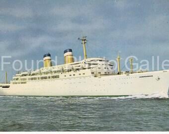 Vintage Postcard,  S.S. Independence, Color Postcard, Travel Postcard, Vacation Postcard, Ocean Liner, Passenger Ship Photo, Color Photo