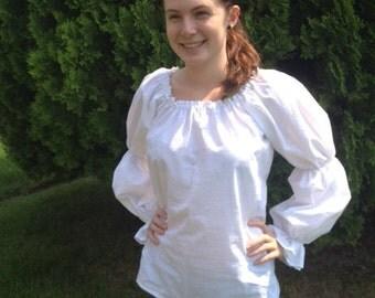 Womens (XL, 2XL, or 3XL) Renaissance Faire Long Sleeve Chemise Blouse