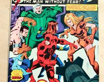Bronze age Marvel comic book. Daredevil. Vol 1 #123 July 1975