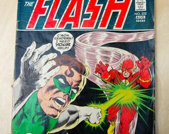 DC bronze age comic book. The Flash. Vol 24 # 222 July 1973