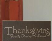 Thanksgiving Family  Blessings Harvest Sign - Wooden Thanksgiving Sign