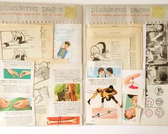 The Unreliable Body - Plundered Pages - a disease, damage and medicine-themed pack of VINTAGE BOOK PAGES