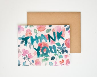 Thank You Spring Floral Greeting Card