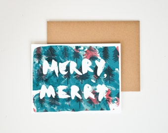 Merry, Merry Greeting Card