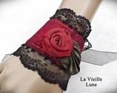Lace Cuff, Victorian Cuff, Gothic Lace Wrist Cuff, Victorian Jewelry, Lace Jewelry