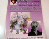 "Bob Ross Presents Annette Kowalski's ""The Joy of Painting Flowers"" - 69 pg. - mint condition- 1994 - oil - tole painting booklet -PBS Series"