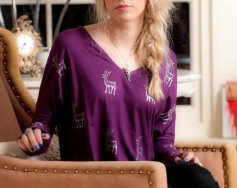 Purple Reindeer Top