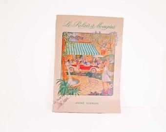 Vintage Menu from Le Relais a Mougins - autographed by chef Andre Surmain