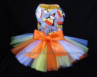 Clearance, Sample Sale, Candy Corn Dog Tutu Dress Small Was 30.00 Now Only 19.95!