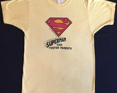 70's Authentic Vintage SUPERMAN had Foster Parents Soft Thin and Truly Unique T Shirt