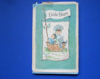 Little Boys, a Vintage Children's Book, C.R, Gibson Company