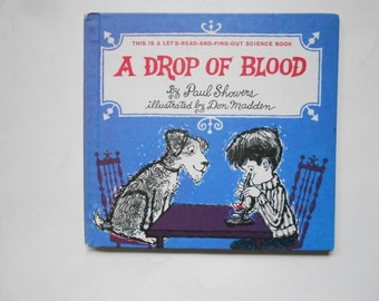 A Drop of Blood, a Vintage Children's Book, Science