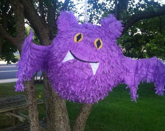 Halloween Bat Pinata - Bat Pinata - Purple Bat Pinata - Halloween Party Pinata - Pinata