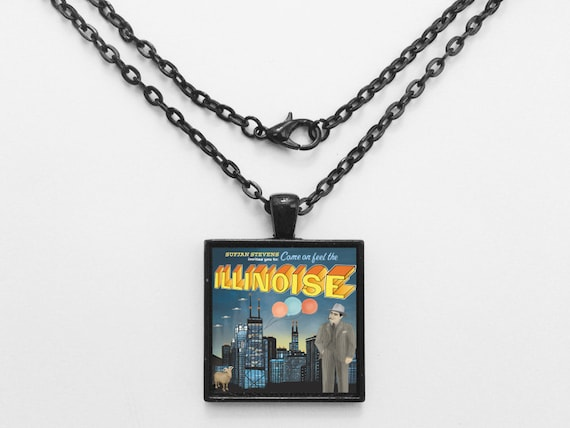 Sufjan Stevens - Illinoise Album Cover Necklace OR Keychain