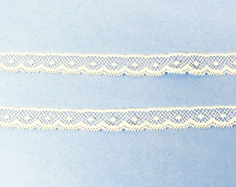 White French Cotton Lace Edging - Heirloom Sewing Supplies - Doll Dress Supplies