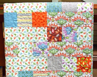 Butterfly Quilt-Lap Quilt Size-Blankets and Throws-Handmade