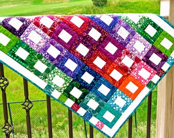 Fabric Wall Hanging - Bright Colors - Art Quilts - Handmade