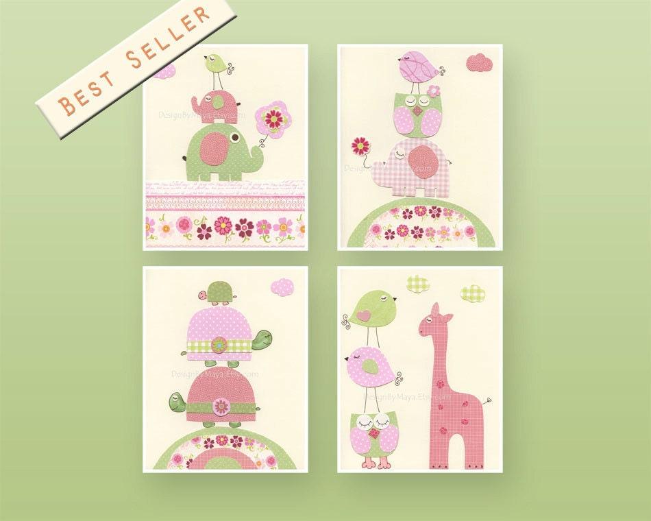 Etsy Girl Nursery Wall Decor : Nursery decor baby girl wall art print room