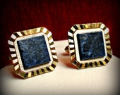 Semi-Precious Blue Cuff Links