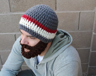 Adult ULTIMATE Bearded Charcoal Burgundy Mix