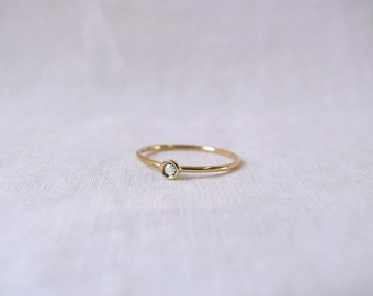 Rose cut white diamond ring - 14k or 18k