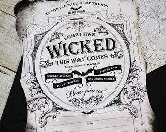 Fill-in-the-Blank Something Wicked Invitation Set by Loralee Lewis
