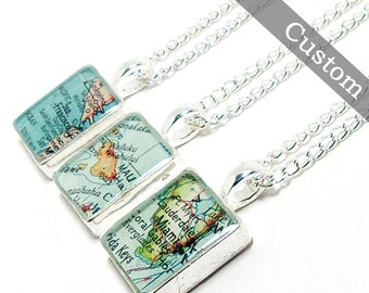 CUSTOM Map Square Necklace. You Select Location. Anywhere In The World. One Necklace. Map Pendant. Map Jewelry. Travel. Personalized.