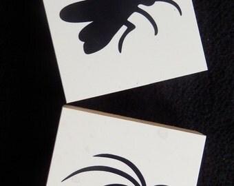 BUGS! Martha Stewart - Halloween - Rubber Stamps - WM rubber stamp  (set of 2)